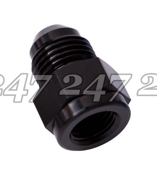 6 AN Male AN Flare Fitting Reducer Adapter 8AN to 6AN 8 AN Female Black